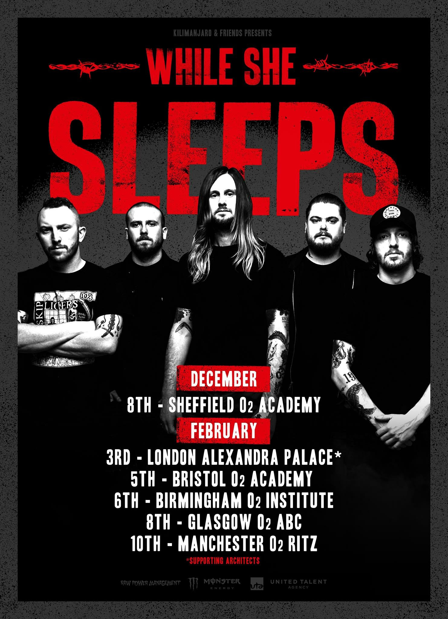 While She Sleeps Uk Tour Support